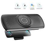 AGPTEK Manos Libres para Coche Bluetooth 4.2 con Siri, Google Asistente