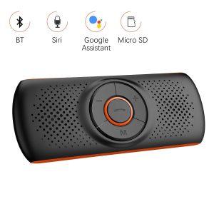 Aigoss Manos Libres para Coche Bluetooth 4.2 con Siri y Google Assistant