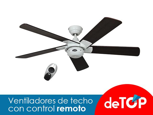 Los Mejores Ventiladores de techo con Control Remoto
