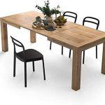 Mobili Fiver. Una mesa de cocina extensible de madera de calidad