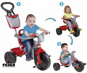 Triciclo bebés FEBER. El más versátil