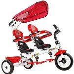 Triciclo gemelar COSTWAY