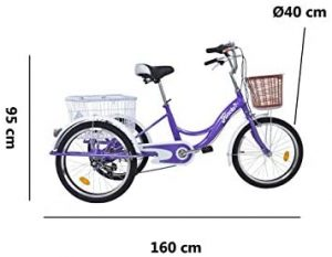 Triciclo para adultos Riscko