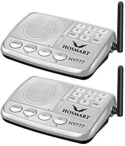 Intercomunicador inalámbrico para hogar Hosmart 1500FT